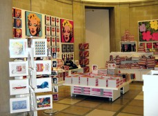 Warhol exhibition shop